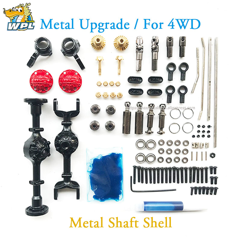 For 1//16 WPL B14 B24 B26 C14 C24 Upgrade Metal OP Fitting Kit DIY Assembly Set