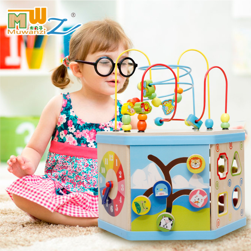 Third Gear Bead-stringing Toy, Can Cognitive Color, Shape, Through Toggle Bead-stringing Toy, Concentrate Bead-stringing Toy