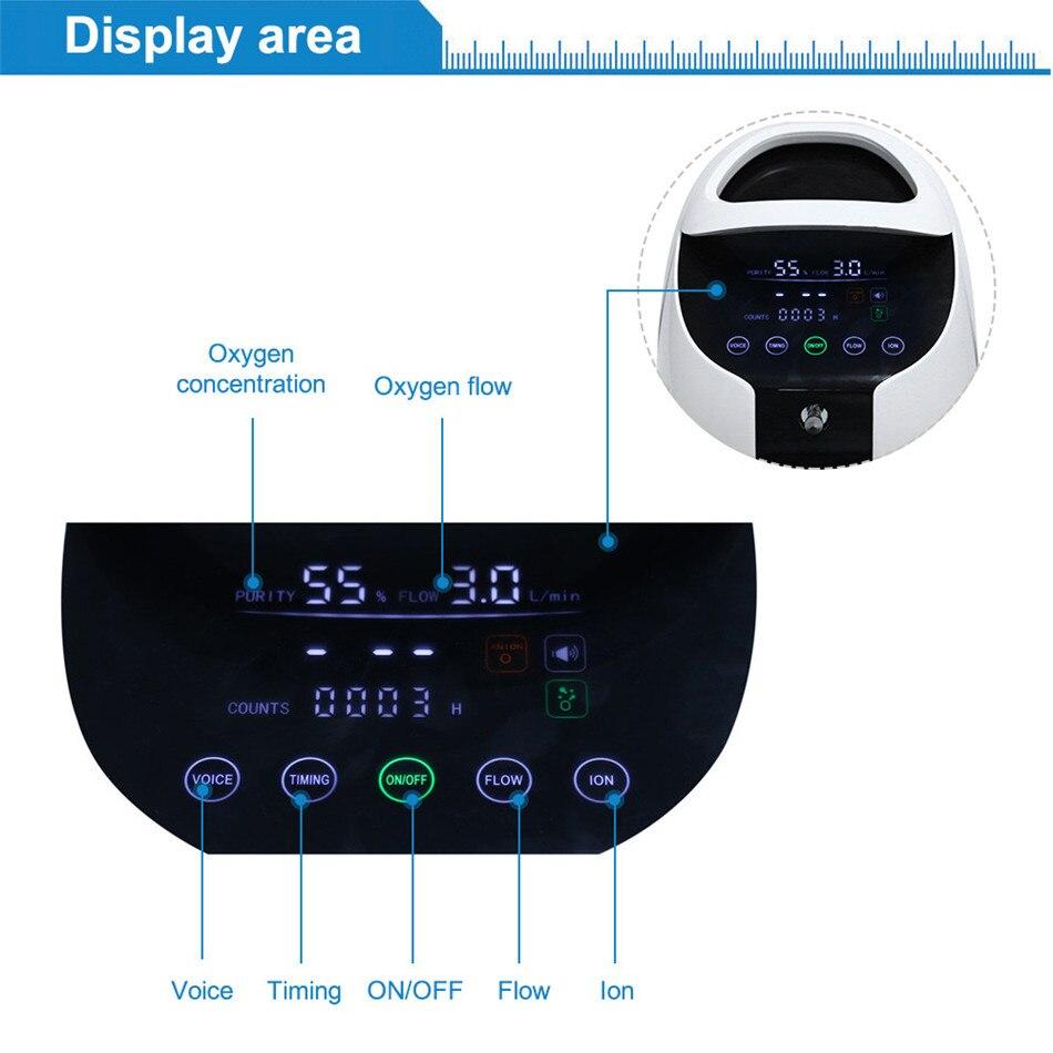 ZY-1A Sauerstoff Konzentrator 1-6L/min Einstellbar Tragbare Sauerstoff Maschine für Zu Hause und Unterwegs Verwenden Mit Griff Einfach Nehmen