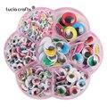 Lucia Crafts 400 шт./кор. 5-15 мм цветной самоклеящийся Пластик игрушечные глаза игрушка «сделай сам» Материал K0860