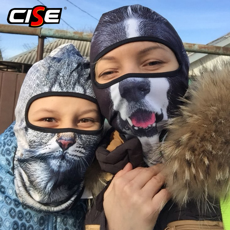 Image 5 - Balaclava Motorcycle Full Face Mask 3D Animal Cat Dog Hats Helmet Windproof Airsoft Paintball Snowboard Cycling Ski Halloween-in Motorcycle Face Mask from Automobiles & Motorcycles