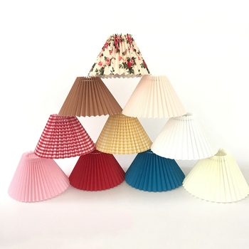 Yamato Style LED Table Lamp Vintage Japanese Cloth Lampshades for Lamps Bedroom Study Tatami Muticolor Pleated