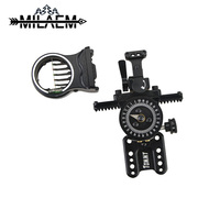 1 pc Archery 5 Pins Bow Sight Compound Bow Micro Adjuster Sight Aluminum Alloy Bow Sight Shooting Hunting Accessories