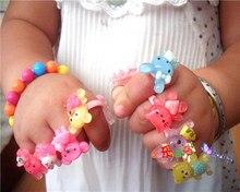 5 pçs/set Anéis para crianças Meninas Anel Fresco Jóias Anillos anel Venda Bijoux Femme infinito anel de presente de aniversário das Crianças