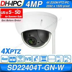 Dahua oryginalny SD22404T-GN-W 4-megapikselowy 4-krotny Zoom PTZ H.265 WDR ICR IVS wykrywanie twarzy IP66 IK10 Onvif bezprzewodowa sieć WiFi kamera IP CCTV
