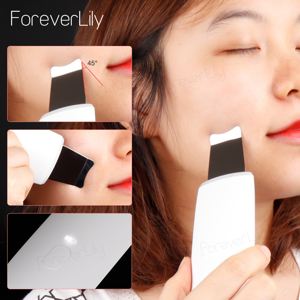 Ultrasonic Deep Face Cleaning Machine Skin Scrubber Remove Dirt Blackhead Reduce Peeling Clean Tool Face Lifting Whitening Care