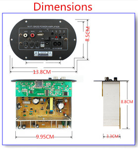 Image 4 - Kyyslb JW A8 100 ~ 200 w 가정용 오디오 차량용 앰프 12v24v220v 발열 클래스 서브 우퍼 전력 증폭기 보드 카드 usb 원격 제어