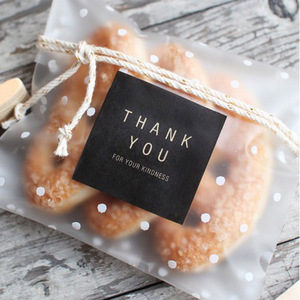 100 PCS Gift bags plastic biscuit packaging bread baking supplies white dot candy party wedding decoration