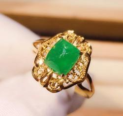 Z708 pierścionek ze szmaragdem 1,9ct czysta 18 K złota biżuteria natura żywy zielony szmaragd kamień diamentowe kobiece pierścionki dla kobiet piękny pierścionek
