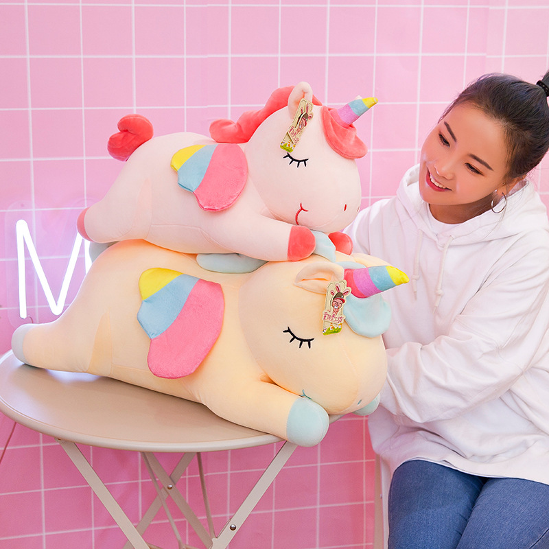 50cm Soft Down Cotton Party Rainbow Angel Unicorn Plush Toy Doll Phantom Pony Pillow Gift Girl Child Birthday Gift Home