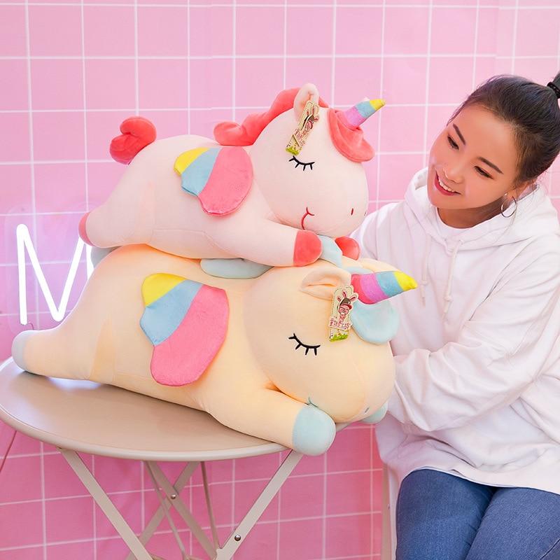50cm Soft Down Cotton Party Rainbow Angel Unicorn Plush Toy Doll Phantom Pony Pillow Gift Girl Child Birthday Gift Home