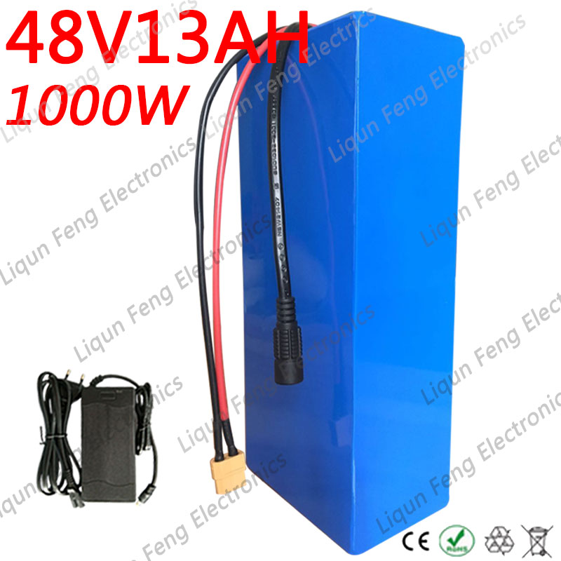 Smart High Quality 750w 48v 13ah Lithium Battery 48v 13s Electric Bike Battery 48 V Scooter Battery With 54.6v 2a Charger 20a Bms