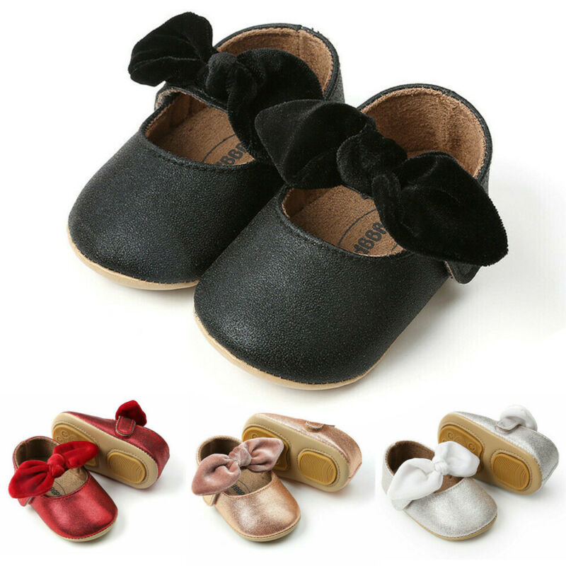 Hot Glitter Toddler Baby Girl Shoes Soft Sole Crib Sole Shoes Newborn Kid Babe Bowknot Shoes