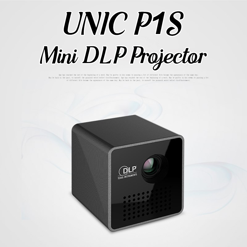UNIC P1S Mini proyector HD WIFI inalámbrico DLP bolsillo 40 lúmenes Micro LED Video proyector cine en casa para AirPlay