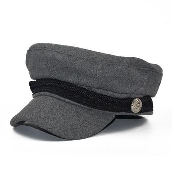 Yacht Captain Sailor Hat Newsboy Cabbie Baker Boy Peaked Beret Cap Adjustable for Men Women Driver Chauffeur British Style 2