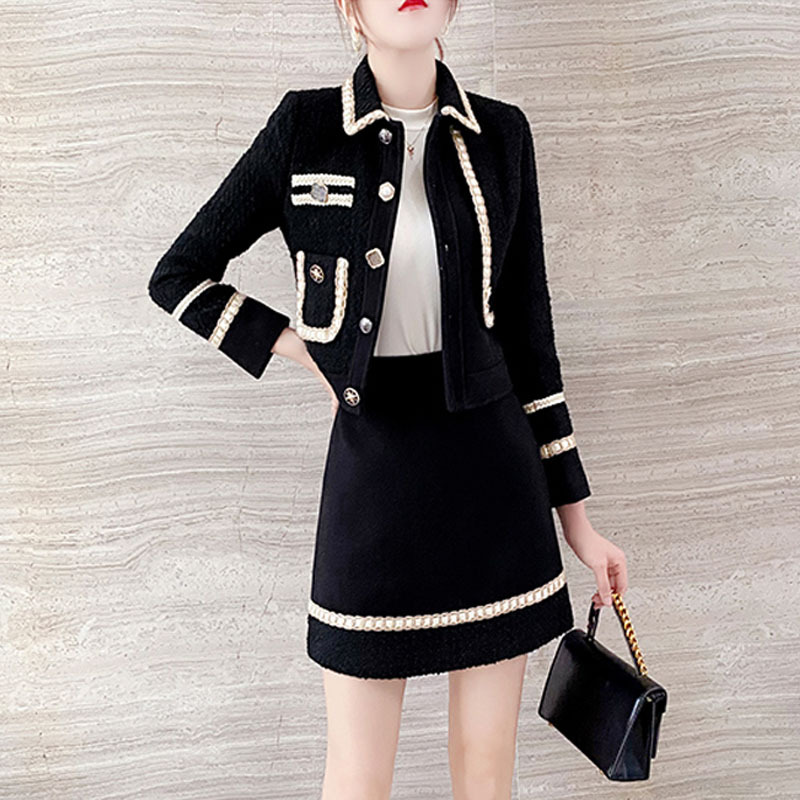 Small man, fragrant style, Gao Duan, celebrity, fried Street suit, 2021 spring and autumn French coat, half skirt, two piece