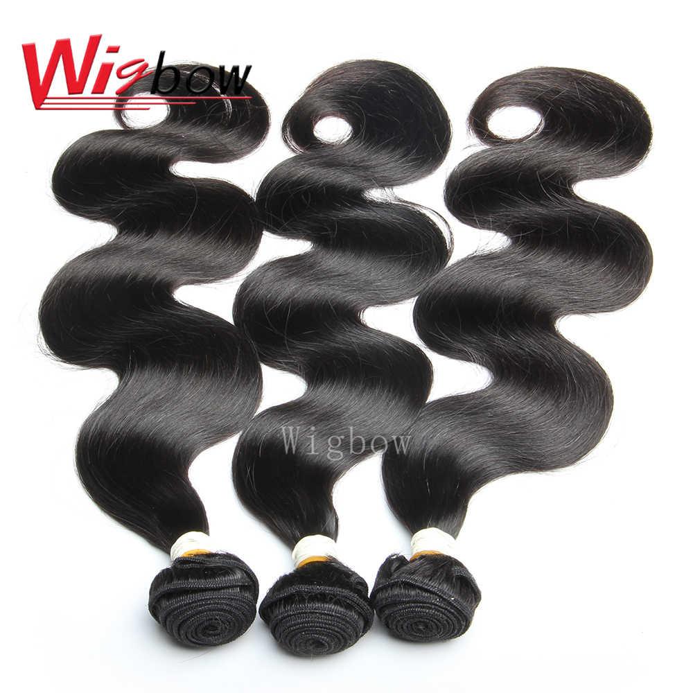 Wigbow OneCut Haar Braziliaanse Body Wave Haar Bundels Human Hair Extensions Natual Kleur 8-28 Inch P Remy Haar bundels