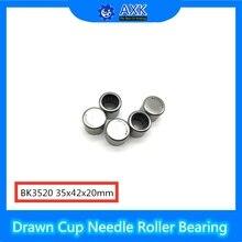 BK3520 Needle Bearings 35*42*20 mm ( 5 Pc ) Drawn Cup Needle Roller Bearing  BK354220 Caged Closed ONE End nk90 25 bearing 90 110 25 mm 1 pc solid collar needle roller bearings without inner ring nk90 25 nk9025 bearing