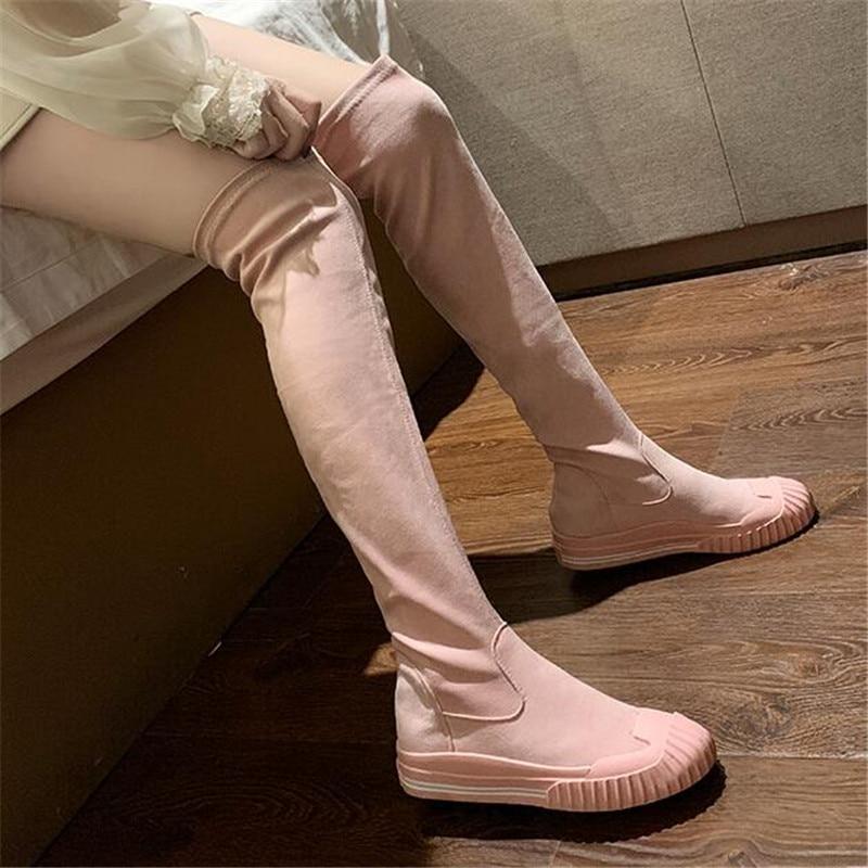 Fashion Women Ladies Over The Knee Socks Thigh High Slim Leg Long Boot Stockings