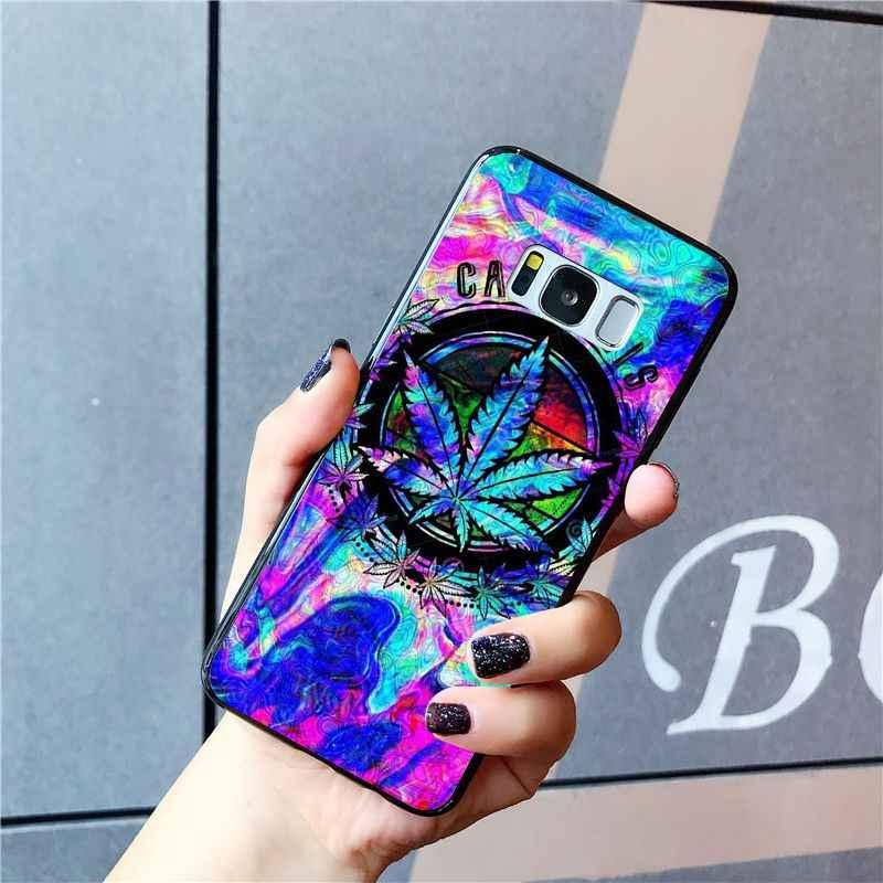 Babaite ot yaprak telefon kılıfı için Samsung Galaxy S10E S7 kenar S9 S8 S10plus S6 S10Lite S10E S20 20 artı 20Ultra