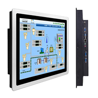 """12"""" 10 15 17 inch Industrial Panel all in one PC mini Computer Capacitive Touch with core i3-3217U RS232 com Windows 7/10 1"""