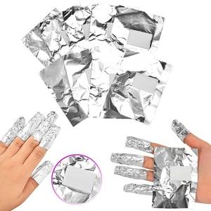 100Pcs Aluminium Foil Nail Art Soak Off Acrylic Gel Polish Nail Removal Wraps Remover Easy Cleaner Nail Polish Gel TSLM1
