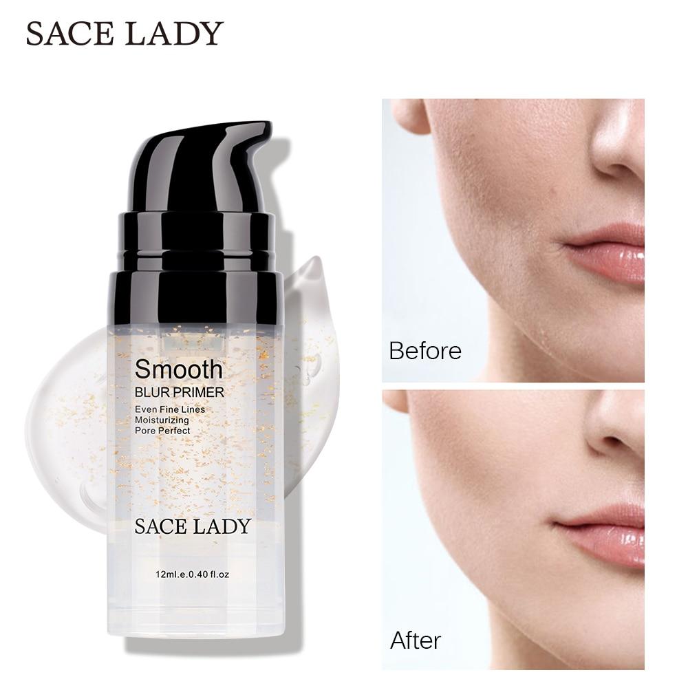 SACE LADY Primer Makeup Oil Control Matte Make Up Face Base Cream 24K Gold Professional Pores Foundation Primer Cosmetic