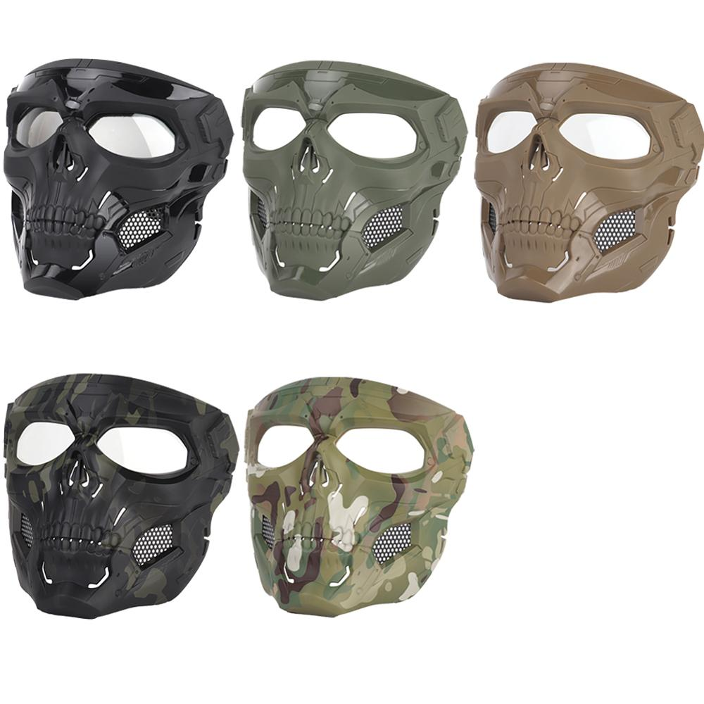 Tactical Safety Airsoft Skull Mask Paintball Outdoor Breathable Hunting Shooting Masks CS Game Face Protective Full Face Mask