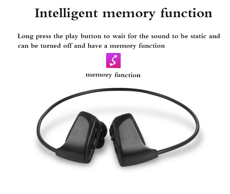 Fones de ouvido sem fio esportivo, fone de ouvido para mp3 antiperda estudantes corrida