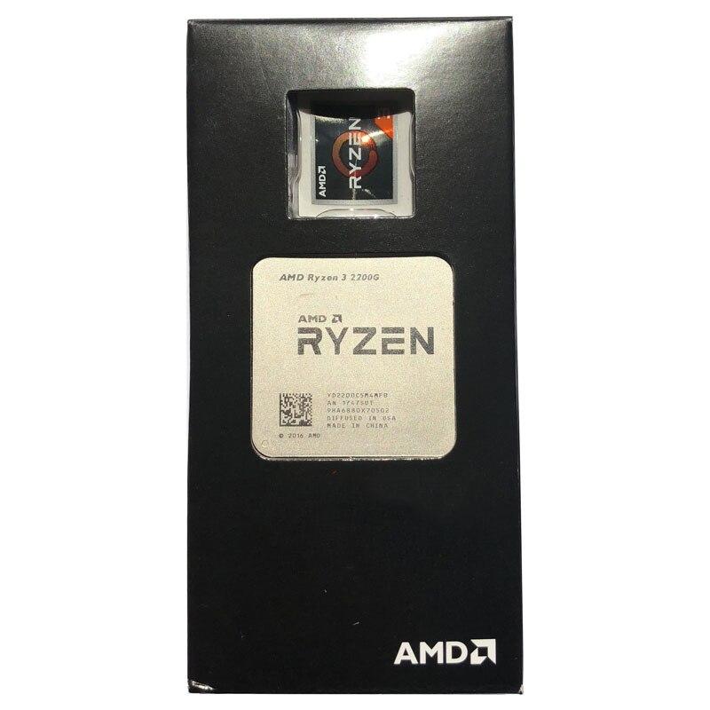 AMD Ryzen 3 2200G R3 2200G R3 2200 3.5GHz Quad-Core CPU Processor Desktop 65W Socket AM4 NEW 2