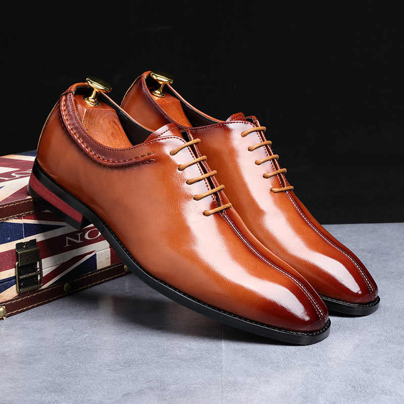 男性靴小さな正方形革 zapatos のやつデ vestir 正式な男性はコード業務執行正しい僧侶シングル brogues