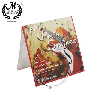 M MBAT V60 struna do skrzypiec wysokiej jakości drut ze stali nierdzewnej naprawa i zestaw do konserwacji akcesoria do instrumentów muzycznych tanie i dobre opinie CN (pochodzenie) Stainless Steel Wire String Nickel-plated Ball-end Silver Musical instrument accessories