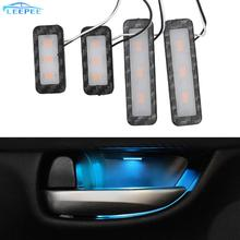4Pcs Armrest Interior Door Handle Lighting LED Car Inner Bowl Light Decorative Lights Auto Atmosphere Lamp Car Styling Universal