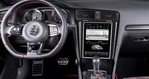 Styl Tesla odtwarzacz multimedialny Stereo samochodowe z androidem GPS samochodów PC PAD dla Golf 7 VII MK7 2014 2015 2016 2017 2018