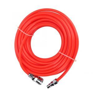 Image 4 - 5*8mm 고압 유연한 공기 압축기 호스 남성/여성 빠른 커넥터 15 m 빨간색 공기 호스