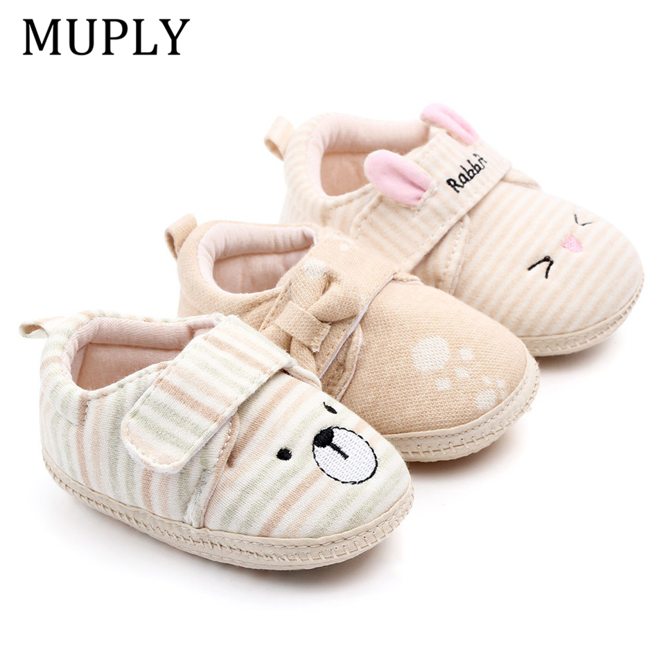 2019 Brand New Toddler Newborn Baby Boys Girls Animal Crib Shoes Infant Cartoon Soft Sole Non-slip Cute Warm Animal Baby Shoes