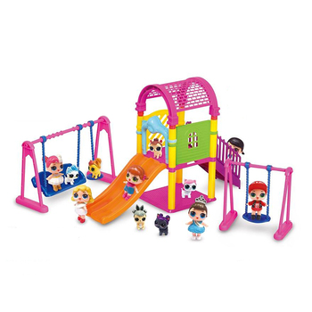 LOL surprise dolls girl's paly house toys lols dolls set DIY amusement park Swing Slide Action Figure for child birthday gifts park swing garden swing amusement park equipment