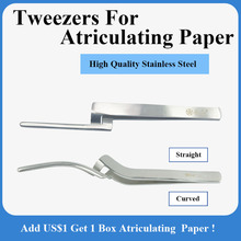 Paper-Holder Ce Stainless-Steel Atriculating And Straight/curved-Tweezers Dental 1pieces