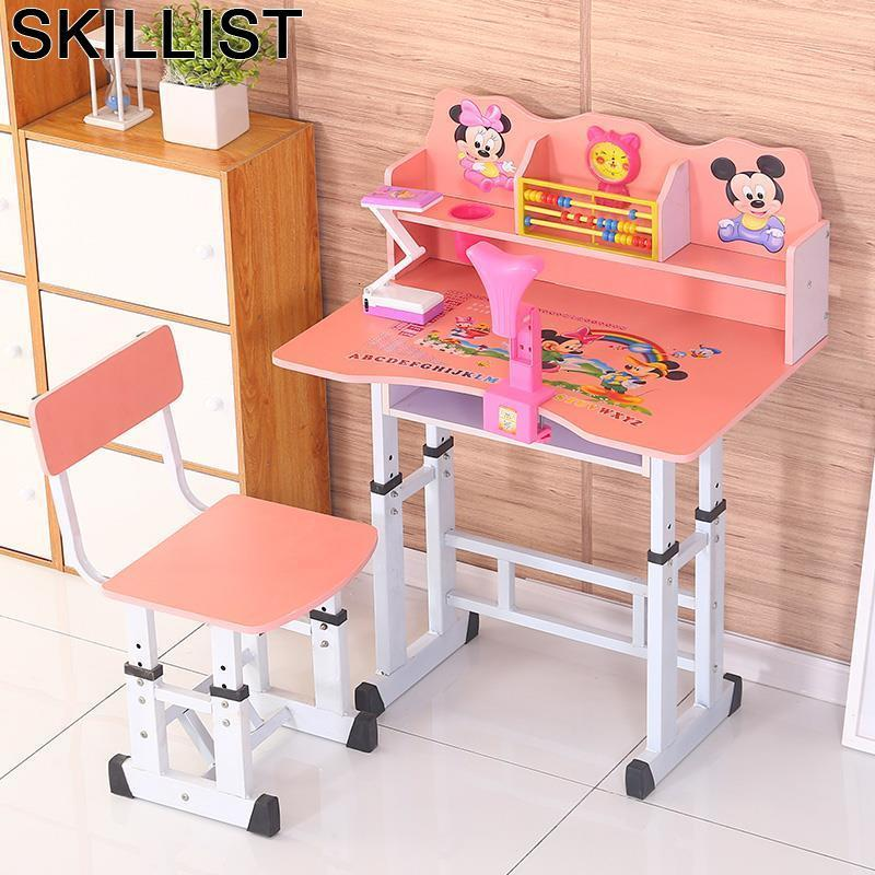 Children Scrivania Bambini Play Child Silla Y Mesa Infantiles Mesinha Infantil Adjustable For Bureau Enfant Study Kids Table
