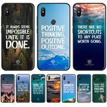 phrase inspirational Phone Cases For Xiaomi Redmi 7 9t  9se k20 mi8 max3 lite 9 note 8 9s 10 pro Soft Silicone Shell Cover Funda