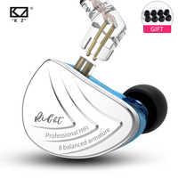 Nieuwe AS16 8BA 8 Balanced Armature Driver In Ear Oortelefoon HIFI Bass Monitor Oortelefoon Oordopjes voor KZ ZS10 AS10 ZST ZSN PRO ZS10 PRO