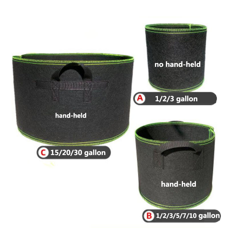 High Quantity Seedling Grow Bags Pot 1 5 20 Gallon Home Garden Tools Strawberry Fabric Seedsplants Vegetable Jardin Growing Pots