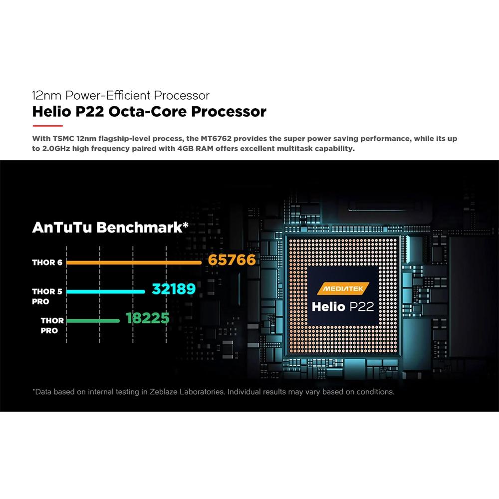 Смарт-часы Zeblaze THOR 6 SIM-карт, 1,6 дюйма, 4 + 64 дюйма, с большой памятью, процессор Helio P22, часы с камерой, водонепроницаемые, спортивные, многофункциональные 2