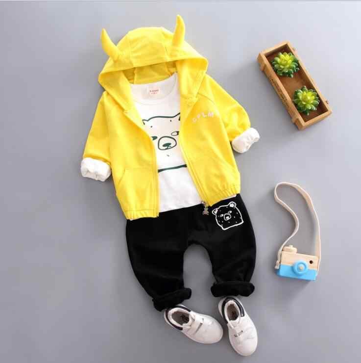 2020 New Spring Autumn Children Girl Boys Fashion Clothing Suit Coat T Shirt Pants 3Pcs/Set Clothes Baby Cotton Brand Tracksuits