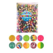 Смешные игрушечные шарики 100 шт./лот, сплошной резиновый прыгающий мяч, смешанный супер надувной мяч, Детский Эластичный резиновый мяч, пода...