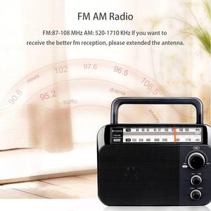 Image 2 - Retekess TR604 FM/AM 2 להקת נייד רדיו AC מופעל נטענת מקלט עם 3.5mm אוזניות שקע קשישים