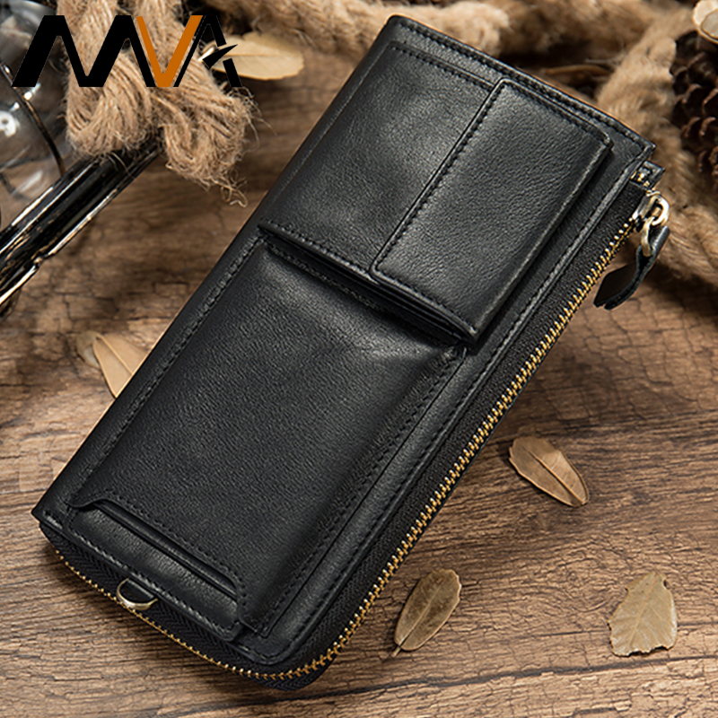 MVA Wallets Women Genuine Leather Wallets Female Long Purse For Women's Wallet Card Houlder Slim Ladies Wallets Coin Purse Woman