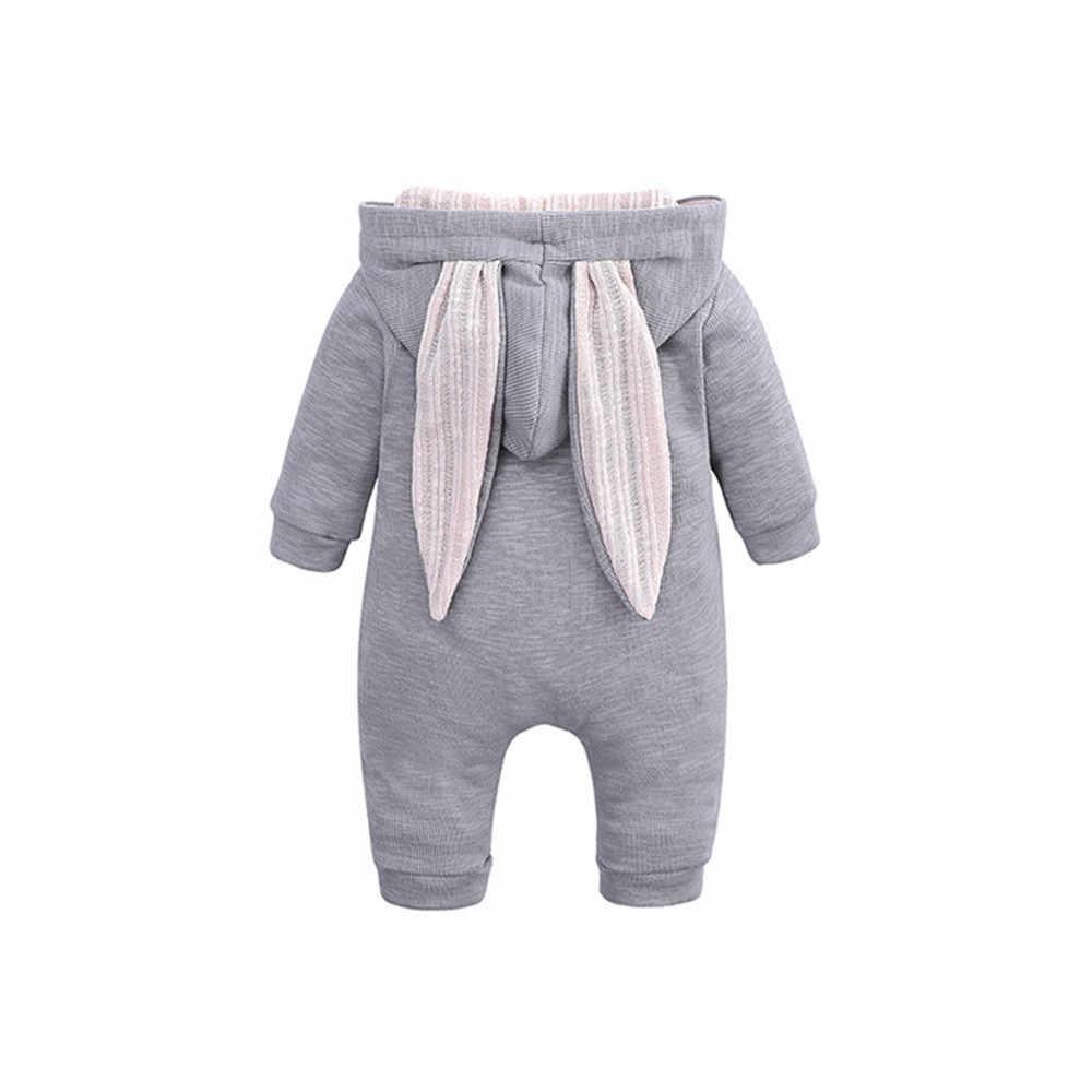 新春秋のベビーロンパースかわいい漫画のウサギの幼児ガールボーイジャンパーキッズベビー服の服ジャンプスーツ