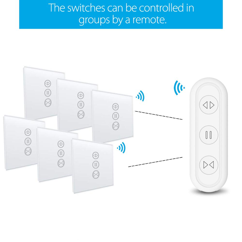 cheapest Tuya Smart Life WiFi Electric Curtain Roller Shutter Switch Smart Home Google Home Alexa Voice Control with Remote App Timer