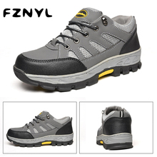 FZNYL Men Women Comfortable Non-Slip Hiking Shoes Rubber Sneakers Outdoor Climbing Shoes Male Female Breathable Hunting Boots camel outdoor men s hiking shoes slip resistant male breathable comfortable waterproof genuine leather climbing shoe a632302285